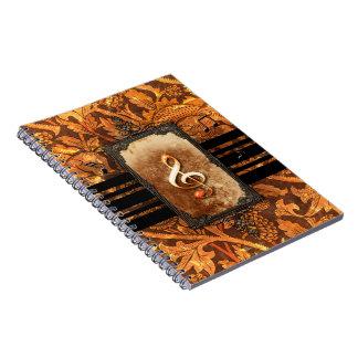 Music, beautiful clef notebooks