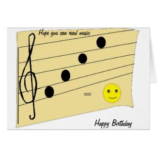 Music Birthday Card