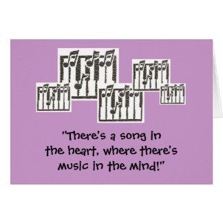 Music Birthday Greeting Card