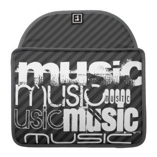 Music; Black & Dark Gray Stripes Sleeve For MacBooks