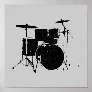 music, black drums poster