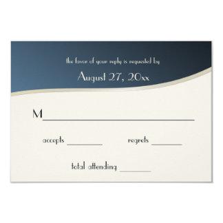 Music Blue and Gold Bar Mitzvah Response Card