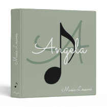 music-book / musical note monogram binder