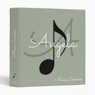 music-book / musical note monogram binder
