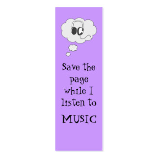 music bookmark Double-Sided mini business cards (Pack of 20)