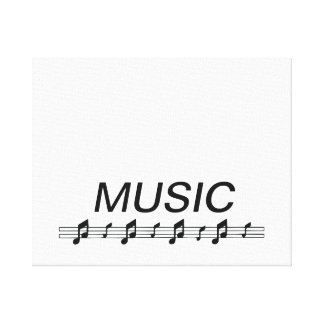 Music bottom with staff at bottom canvas print