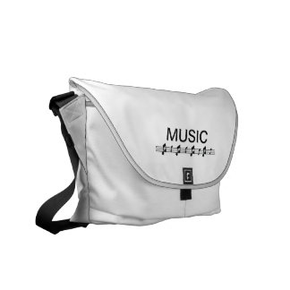 Music bottom with staff at bottom courier bag