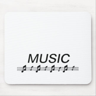 Music bottom with staff at bottom mousepads