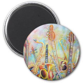 Music Bouquet 2 Inch Round Magnet