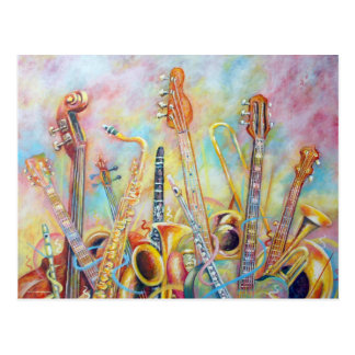 Music Bouquet Postcard