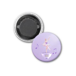 Music Box Ballerina Customizable Refrigerator Magnet