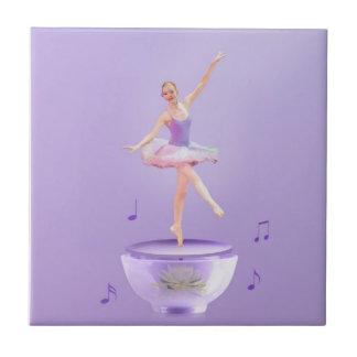Music Box Ballerina Customizable Tile