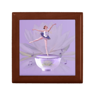 Music Box Ballerina with Water Lily