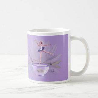Music Box Ballerina with Water Lily Coffee Mug