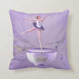 Music Box Ballerina with Water Lily Pillow