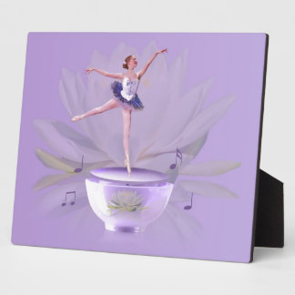 Music Box Ballerina with Water Lily Display Plaque