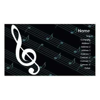 Music - Business Double-Sided Standard Business Cards (Pack Of 100)