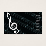 Music - Business Business Card at Zazzle