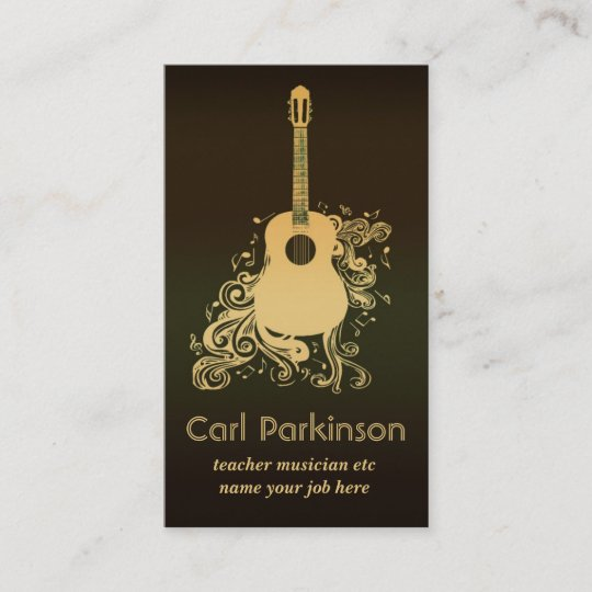 Music business card zazzle music business card colourmoves