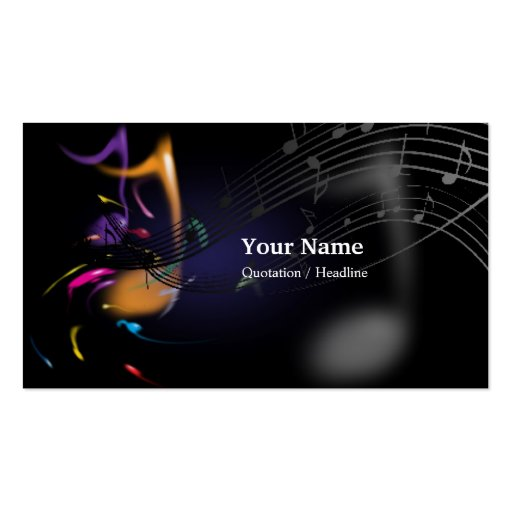 Music business card zazzle for Music business card design