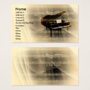 Music Business Card at Zazzle