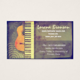 Music business cards 8000 music business card templates music business card fbccfo Gallery