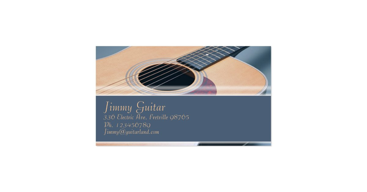 Music Business Card Acoustic Guitar