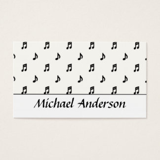 Music Business Card :: Black Notes D1
