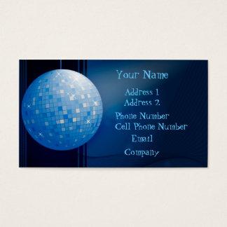 Music Business Card - Blue Disco Ball