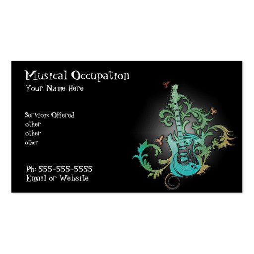 Music business  card business cards