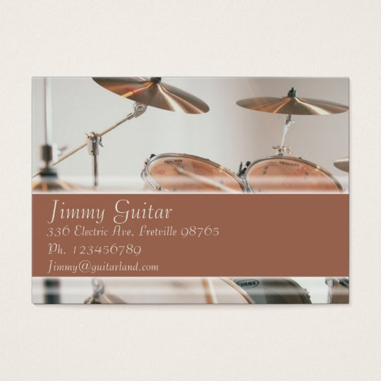Music Business Card - Drum Kit