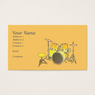 Music Business Card - Drum Kit