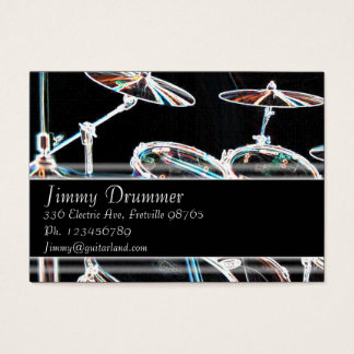 Music Business Card - Glowing Drum Kit
