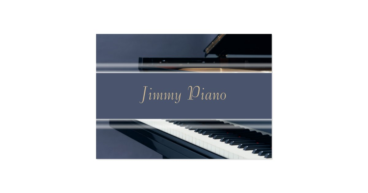 Music Business Card Piano