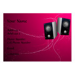 Music Business Card - Pink Speakers