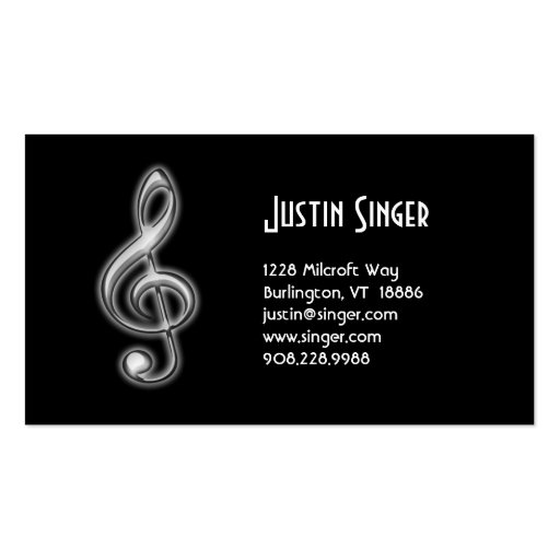Music Business Card Treble Clef