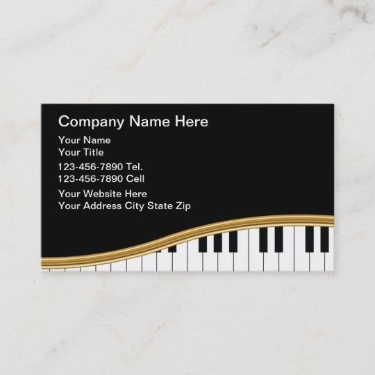 Music Business Cards Zazzle