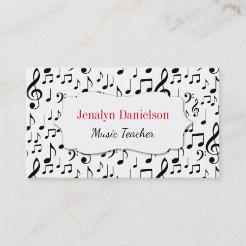 Music Business Cards Music Teacher Instructor