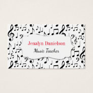 Music Business Cards Music Teacher Instructor at Zazzle