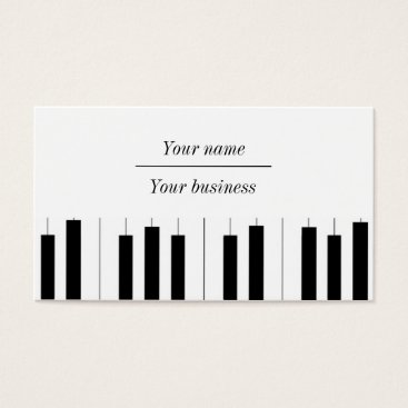 Professional Business Music Businesscards Business Card