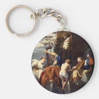 Music by Paolo Veronese Basic Round Button Keychain