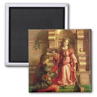 Music, c.1480 2 inch square magnet