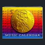 """MUSIC CALENDAR<br><div class=""""desc"""">Not enough months for all the great composers.  Mozart of course gets the gold medal.</div>"""