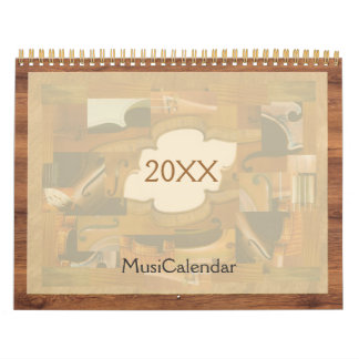 Music Calendar, Musical Instruments Illustrations Calendar