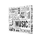 MUSIC Canvas Canvas Print