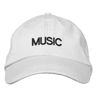 MUSIC CAP EMBROIDERED HATS