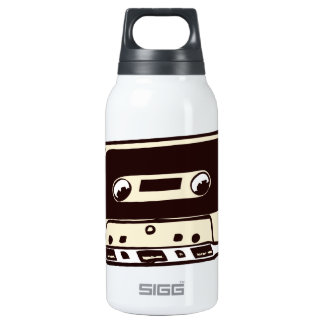 MUSIC CASSETE TAPE INSULATED WATER BOTTLE