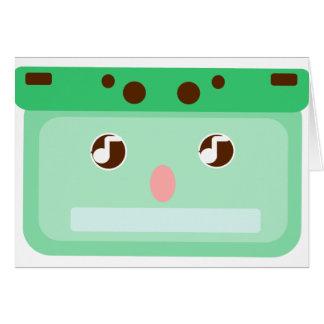 music cassette card