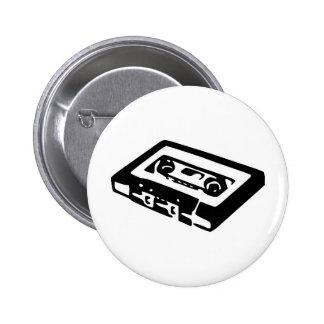 Music Cassette Design 2 Inch Round Button