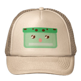 music cassette trucker hat